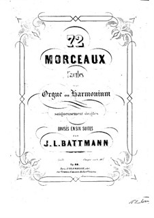 Seventy-Two Pieces for Organ (or Harmonium), Op.60: Book III by Jacques-Louis Battmann