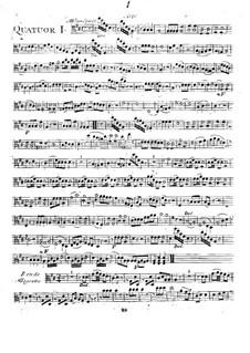 Six Quartets for Flute, Violin, Viola and Cello, T. 145-150: Viola part by Giuseppe Maria Cambini