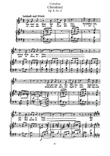 Christmas Songs, Op.8: Nr.6 Christkind by Peter Cornelius