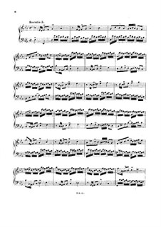 No.5 in E Flat Major, BWV 776: For harpsichord (or piano) by Johann Sebastian Bach