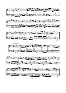 No.6 in E Major, BWV 777: For harpsichord (or piano) by Johann Sebastian Bach