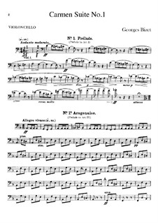 First Suite: Cello part by Georges Bizet