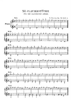 Fifty Piano Pieces for First Beginners, Op.70: Book I by Johann Hermann Berens