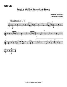 Angels We Have Heard Can Swing: For saxophone quartet – bari sax part by folklore