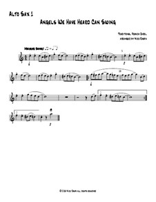 Angels We Have Heard Can Swing: For saxophone quartet – alto sax 1 part by folklore