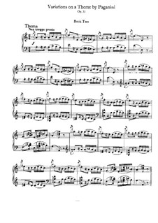 Variations on a Theme by Paganini, Op.35: Book II by Johannes Brahms