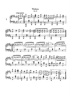 Complete set: Arrangement for piano by Johannes Brahms