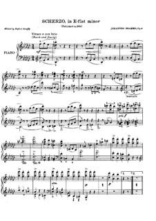 Scherzo in E Flat Minor, Op.4: For piano by Johannes Brahms