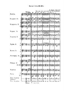 Waltz No.1: Arrangement for wind orchestra by Johannes Brahms