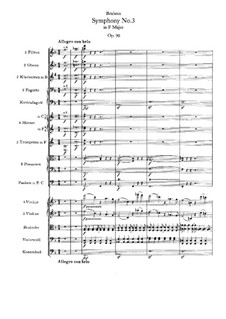 Complete set: Full score by Johannes Brahms