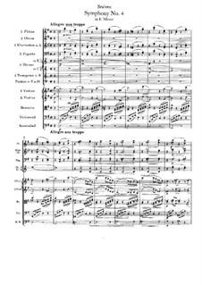 Movement I: Full score by Johannes Brahms
