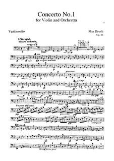 Violin Concerto No.1 in G Minor, Op.26: Cello part by Max Bruch