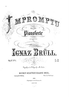 Three Piano Pieces, Op.37: No.1 Impromptu in C Minor by Ignaz Brüll