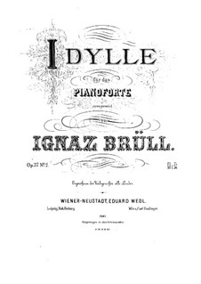 Three Piano Pieces, Op.37: No.2 Idyll in A Major by Ignaz Brüll