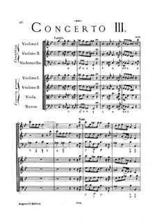 Concerto Grosso No.3 : Full score by Arcangelo Corelli