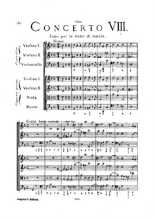 Concerto Grosso No.8: Full score by Arcangelo Corelli