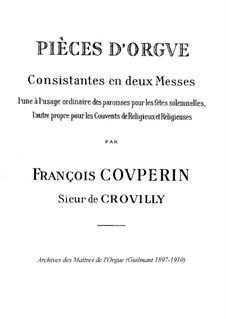 Two Masses for Organ: Two Masses for Organ by François Couperin