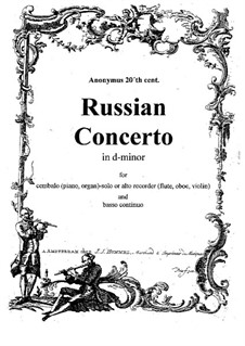 Concerto D Minor: Concerto D Minor by Ivan Shumilov