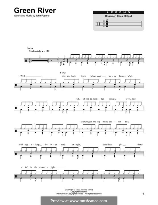 Green River (Creedence Clearwater Revival): Drum set by John C. Fogerty
