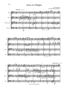 Away in a Manger: For wind quartet by William (James) Kirkpatrick