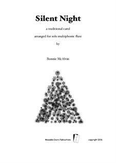 Silent Night (Downloadable): For flute by Franz Xaver Gruber