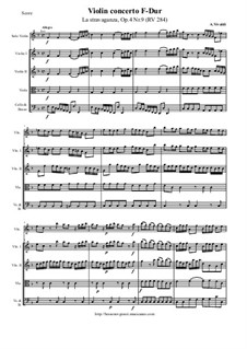 La stravaganza. Twelve Violin Concertos, Op.4: Violin Concerto No.9 in F Major 'La stravaganza' – score and all parts, RV 284 by Antonio Vivaldi