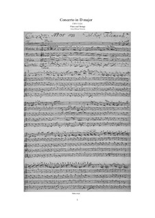 Concerto for Flute and Strings in D Major, TWV 51/D1: Score, parts by Georg Philipp Telemann
