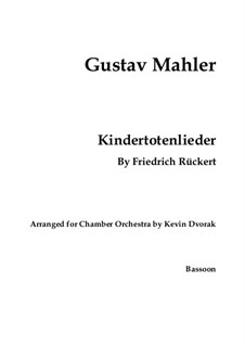 Kindertotenlieder (Songs on the Death of Children): For voice and chamber ensemble – parts by Gustav Mahler