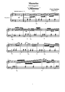 Two Mazurkas for Piano, CS013: Two Mazurkas for Piano by Santino Cara