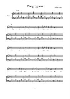 Piango, gemo sospiro e peno...: F Minor by Antonio Vivaldi