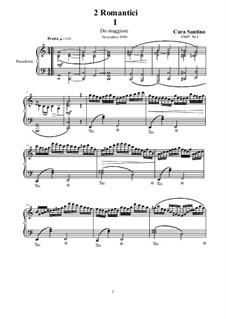 Two Romantics for Piano, CS267: Two Romantics for Piano by Santino Cara