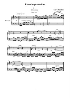 Three piano Researches - Piano solo, CS023: Three piano Researches - Piano solo by Santino Cara