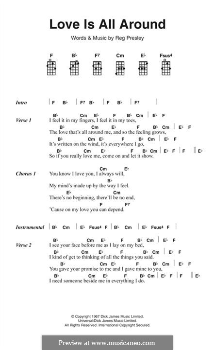 Love Is All Around (Wet Wet Wet) by R. Presley - sheet music on ...