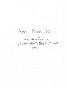 Две пьесы из цикла 'Десять лёгких пьес': Две пьесы из цикла 'Десять лёгких пьес' by Béla Bartók