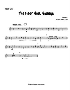 The First Noel Swings: For wind quartet – tenor sax part by folklore