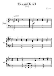 The song of the earth: The song of the earth by Dmitri Solovyov