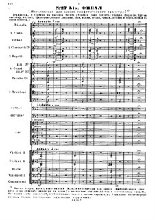 Fragments: Act V. Finale for symphonic orchestra by Mikhail Glinka
