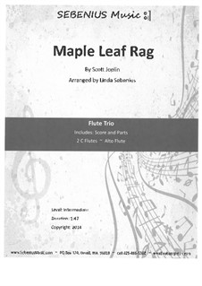 Maple Leaf Rag: For flute trio by Scott Joplin