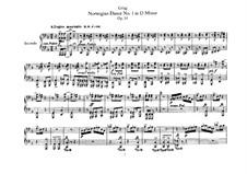 Four Norwegian Dances, Op.35: For piano four hands by Edvard Grieg