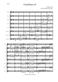 Crucifixus: For flute choir by Antonio Lotti