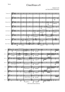 Crucifixus: For clarinet choir by Antonio Lotti