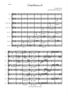 Crucifixus: For wind octet by Antonio Lotti