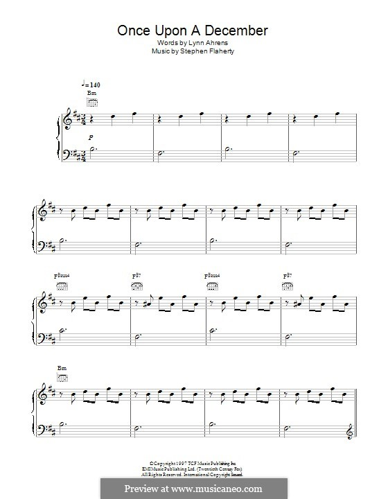 Once Upon a December (from 'Anastasia'): For voice and piano (or guitar) by Stephen Flaherty