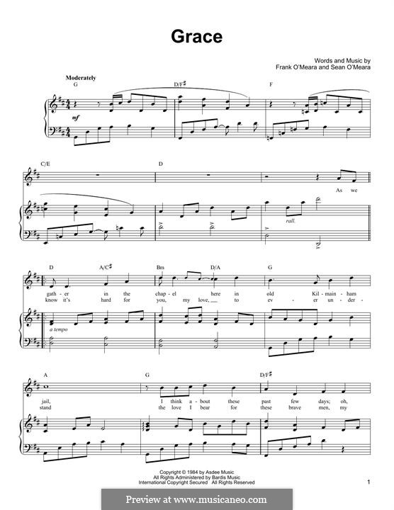 Grace: For voice and piano (or guitar) by Frank O'Meara, Sean O'Meara