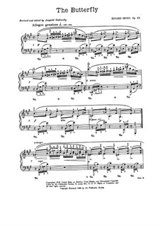 Lyric Pieces, Op.43: No.1 Butterfly by Edvard Grieg