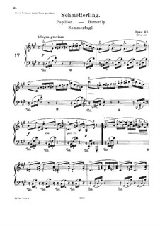 Lyric Pieces, Op.43: Complete set by Edvard Grieg