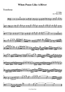 When Peace Like a River: For trombone by Philip Paul Bliss