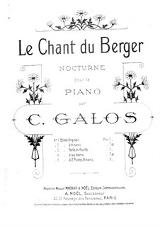Nocturne No.3 'Song of the Shepherd', Op.17: For piano by C. Galos