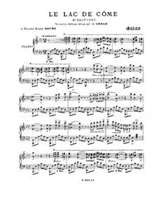Nocturne No.6 'Le lac de côme', Op.24: For piano by C. Galos