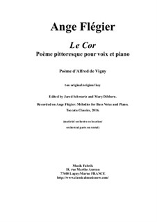 Le Cor: For bass voice and piano by Ange Flégier